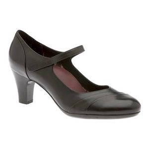 Abeo Harper Neutral Black Mary Jane Shoes